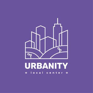 City Planning Company with Building Silhouette in Purple