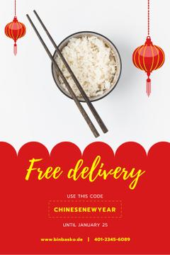 Chinese New Year Offer with Cooked Rice Dish