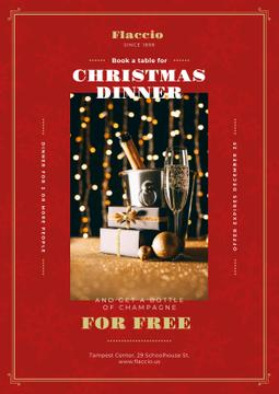 Christmas Dinner Offer with Champagne and Gift