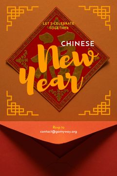 Chinese New Year Greeting Red Envelope