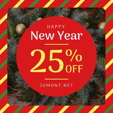 New Year Sale Fir Tress Wreath