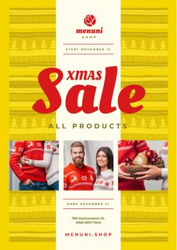 Xmas Sale with Couple with Presents