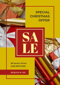 Christmas Offer Gifts Bows and Wrapping