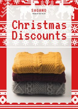 Christmas Sale Stack of Sweaters