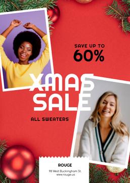Christmas Sale Women in Warm Sweaters