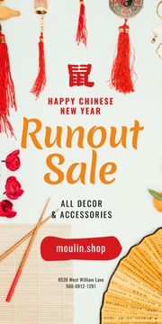 Chinese New Year Sale Asian Symbols