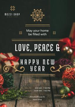 New Year Greeting Decorations and Presents