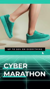 Cyber Monday Sale Sneakers in Turquoise