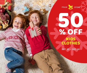 Christmas Offer Kids in Red Sweaters