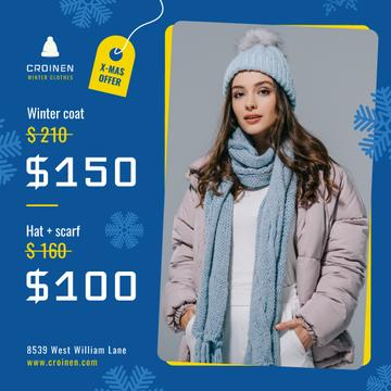 Fashion Sale Woman in Winter Clothes