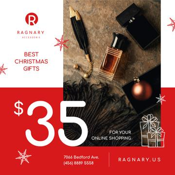 Christmas Sale Cosmetics and Shiny Bauble
