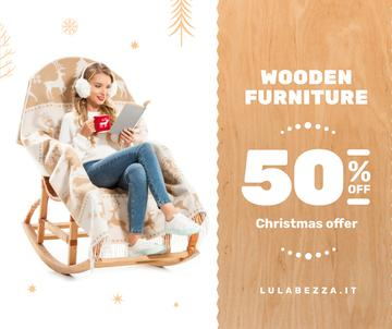 Furniture offer Girl in Christmas Sweater Reading