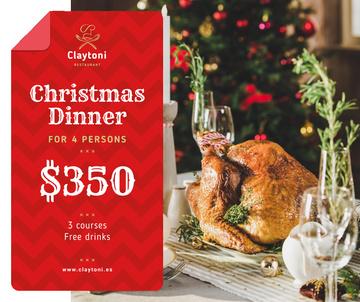 Christmas Dinner whole Roasted Turkey