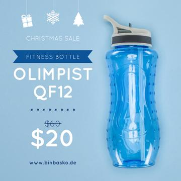 Christmas Sale Water Bottle in Blue