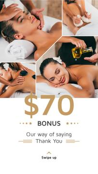 Spa Center Promotion Woman at Massage