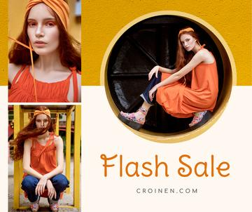Fashion Sale stylish Woman in Orange