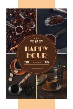 Happy Hour Offer with Coffee Drinks and Beans