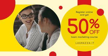 Education Courses Ad Friendly Women Talking