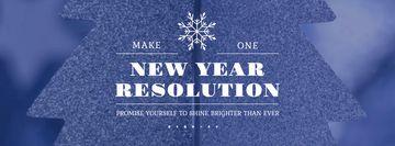New Year Resolution Inspiration Glittering Tree
