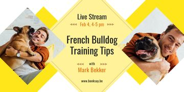 Dog Training Tips with Man with French Bulldog