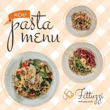 Pasta Menu Promotion Tasty Italian Dishes