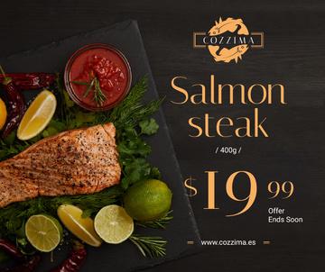 Seafood Offer raw Salmon piece