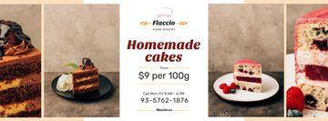 Homemade Bakery Offer Sweet Layered Cakes
