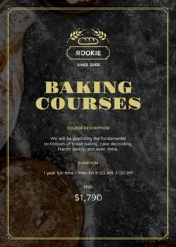 Baking Courses Ad Fresh Croissants and Cookies