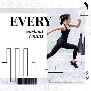 Workout Inspiration with Girl Running in City