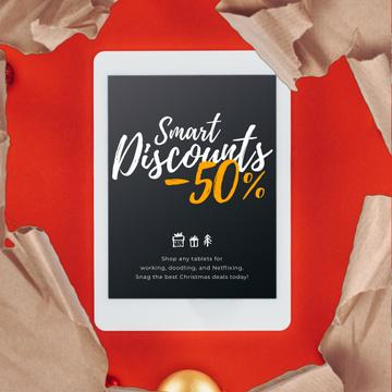 Christmas Discount Digital Tablet in Wrapping Paper