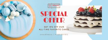Bakery Offer Sweet Layered Cakes