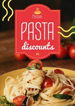Pasta Menu Promotion Tasty Italian Dish