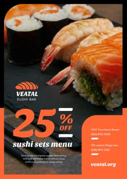 Japanese Restaurant Offer with Fresh Sushi