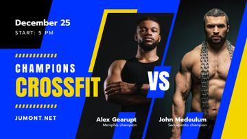 Crossfit Championship announcement with Muscular Sportsmen