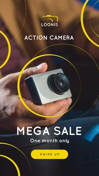 Photography Equipment Offer Hand with Action Camera