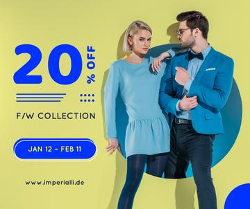 Fashion Ad Couple in Blue Clothes