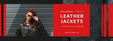 Fashion Ad with Woman in Leather Jacket