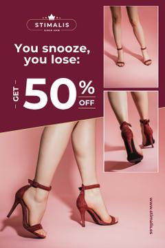 Fashion Sale with Woman in Heeled Shoes