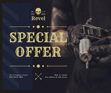 Tattoo Equipment offer Artist holding Machine