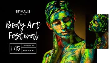 Body Art Festival фnnouncement Woman in Paint