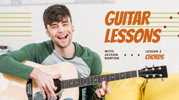 Guitar Lessons Ad Man Playing Guitar