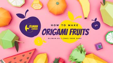 Origami Classes Promotion Paper Fruits Collection