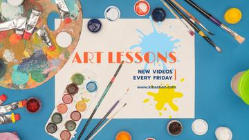 Art Lecture Series with Brushes and Palette