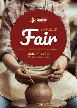 Pottery Fair Man Creating Jar