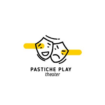 Play Announcement with Theatrical Masks