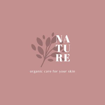 Skincare Ad with Plant Leaves in Pink