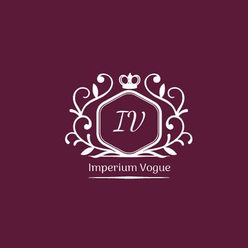 Vintage Decorative Logo in Purple