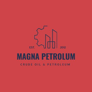 Petrol Transportation Industry with Cogwheel Icon