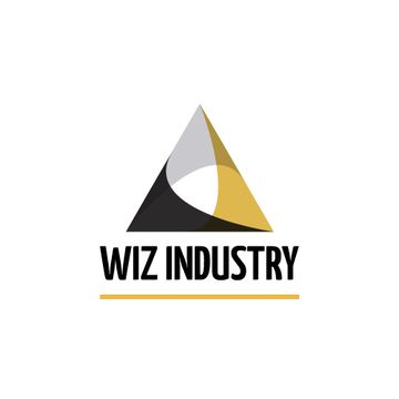 Industrial Company with Logo Triangle Icon