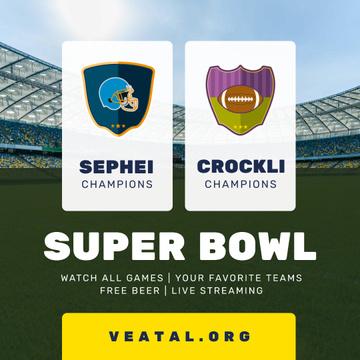 Super Bowl Match Announcement Stadium View